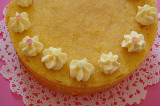 M S Lemon Drizzle Cake With Icing And Flowers